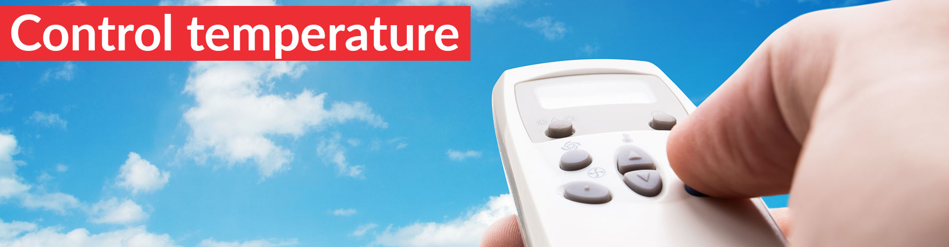 Control weather with our heat pump system